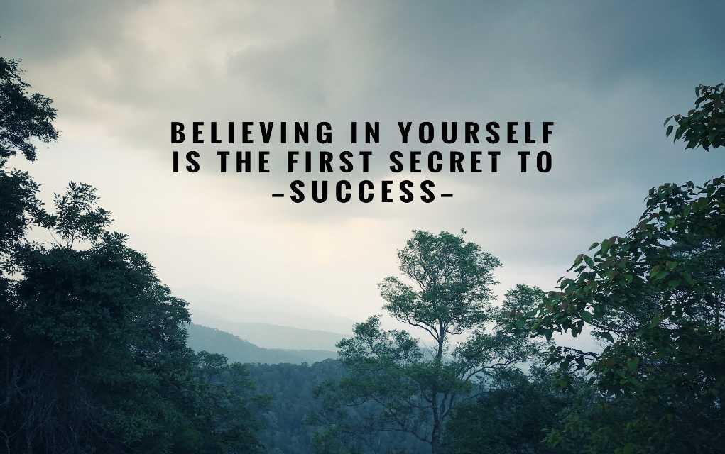 Geloof in jezelf om succes te bereiken