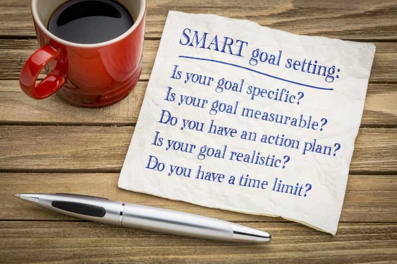 SMART Doelen stellen. is jouw doel specifiek meetbaar haalbaar relevant en tijdsgebonden