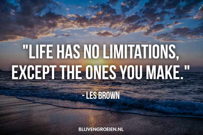 Quote Les Brown Life has not limitations. except the ones you make. Les Brown