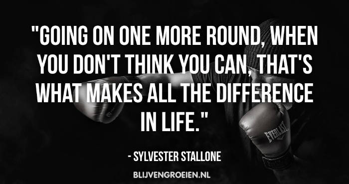 Quote Sylvester Stallone Going on one more round when you dont think you can thats what makes all the difference in life. Sylvester Stallone