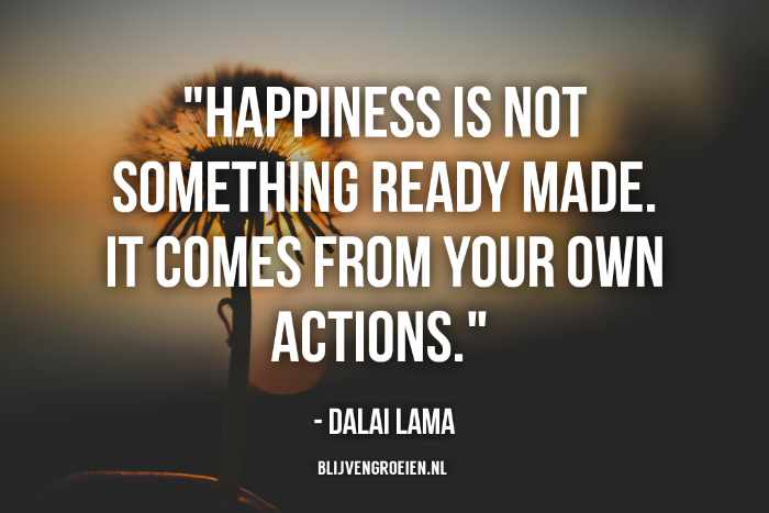 Quote Dalai Lama Happiness is not something ready made. It comes from your own actions. The Dalai Lama